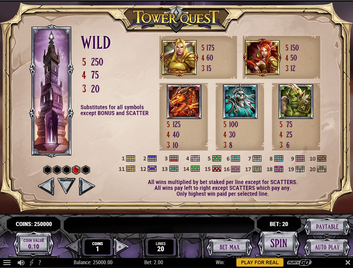 Tower Quest slot som 36602
